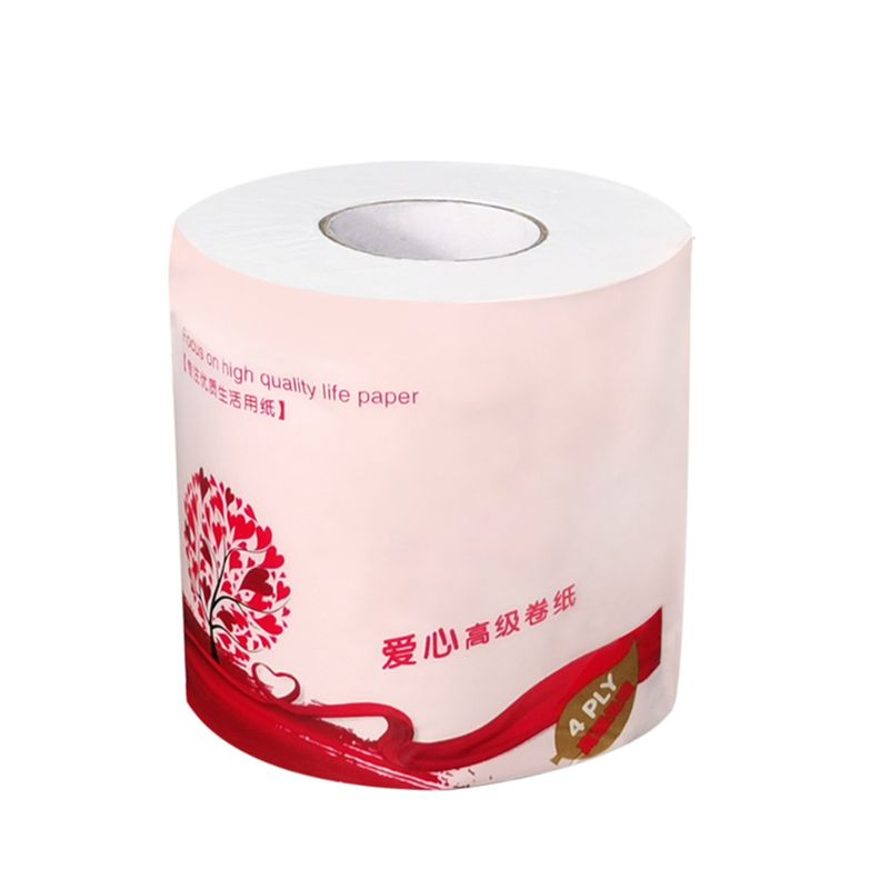 1 Roll Toilet Paper No Fluorescent Agent Soft Stronge 4-Ply Sheets Bath Tissue