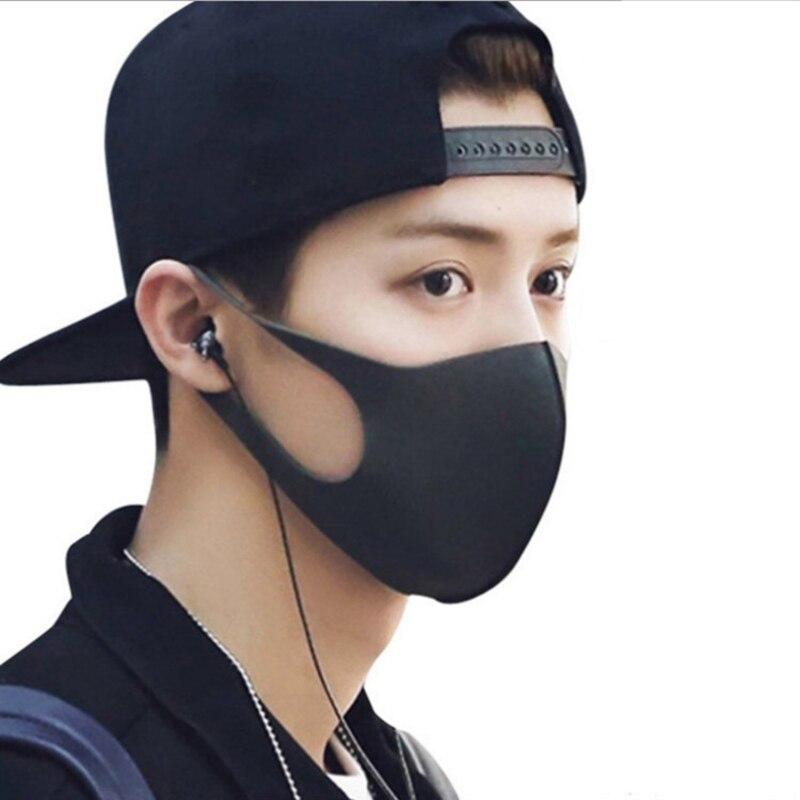1pcs 3D Respirator Mouth Mask Anti-fog Haze Dust Face Mask Black Dustproof  Washable Reusable Breath Mouth-Muffle Mask Unisex