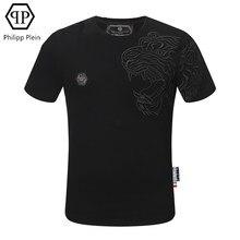 Philipp Plein-T-shirt de mode américaine européenne broderie impression 3D T-shirt à manches courtes décontracté t-shirts d'été haut