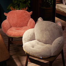 Comodo Sedile Posteriore Cuscino Lungo Peluche Rosa Grigio Sedia cuscino del divano Tatami Gamba lombare Ufficio di supporto camera da letto Cuscino