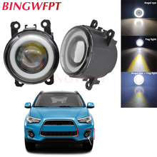 2pcs NEW Car styling Angel Eyes front bumper LED fog Lights with len For Mitsubishi ASX