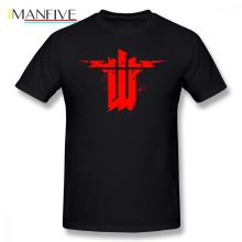 цена на Wolfenstein T Shirt Wolfenstein The New Order T-Shirt Classic Cotton Tee Shirt Plus size  Male Printed Awesome Tshirt