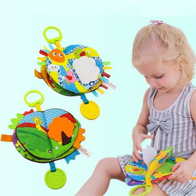 Bébé tissu livre enfants enfants jouets éducatifs doux tissu dessin animé début apprentissage livre dhistoire étude jouets DS19