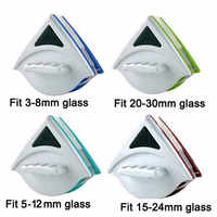handheld double side magnetic window glass cleaning brush for washing windows cleaner glass surface brush for bathroom kitchen