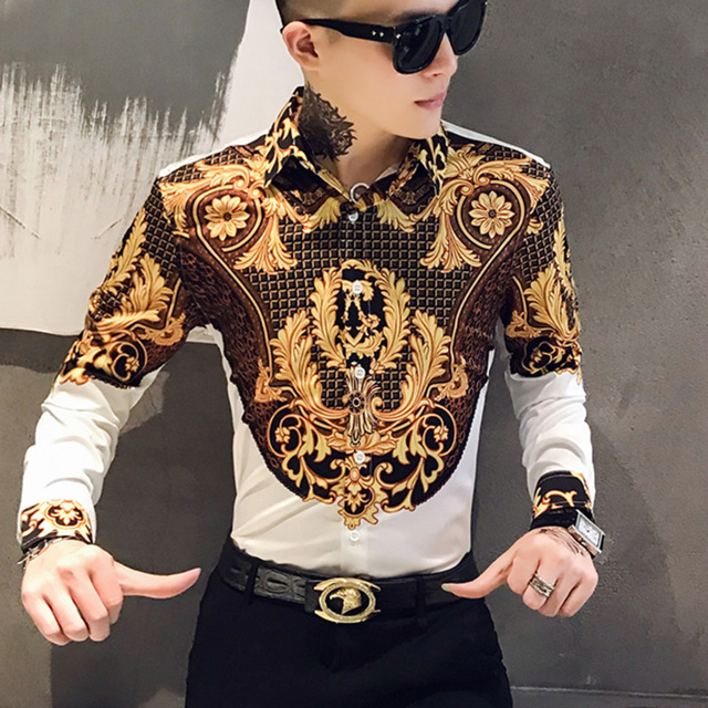 Luxury Gold Print Shirt