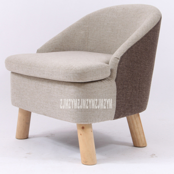 Solid Wood Stool Fabric Backrest Chair Nordic Multifunctional Leisure Single Small Sofa Bedroom /Living Room Furniture