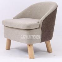 Solidny drewniany taboret tkanina oparcie krzesło Nordic wielofunkcyjny wypoczynek pojedyncza mała Sofa sypialnia/meble do salonu w Krzesła do salonu od Meble na