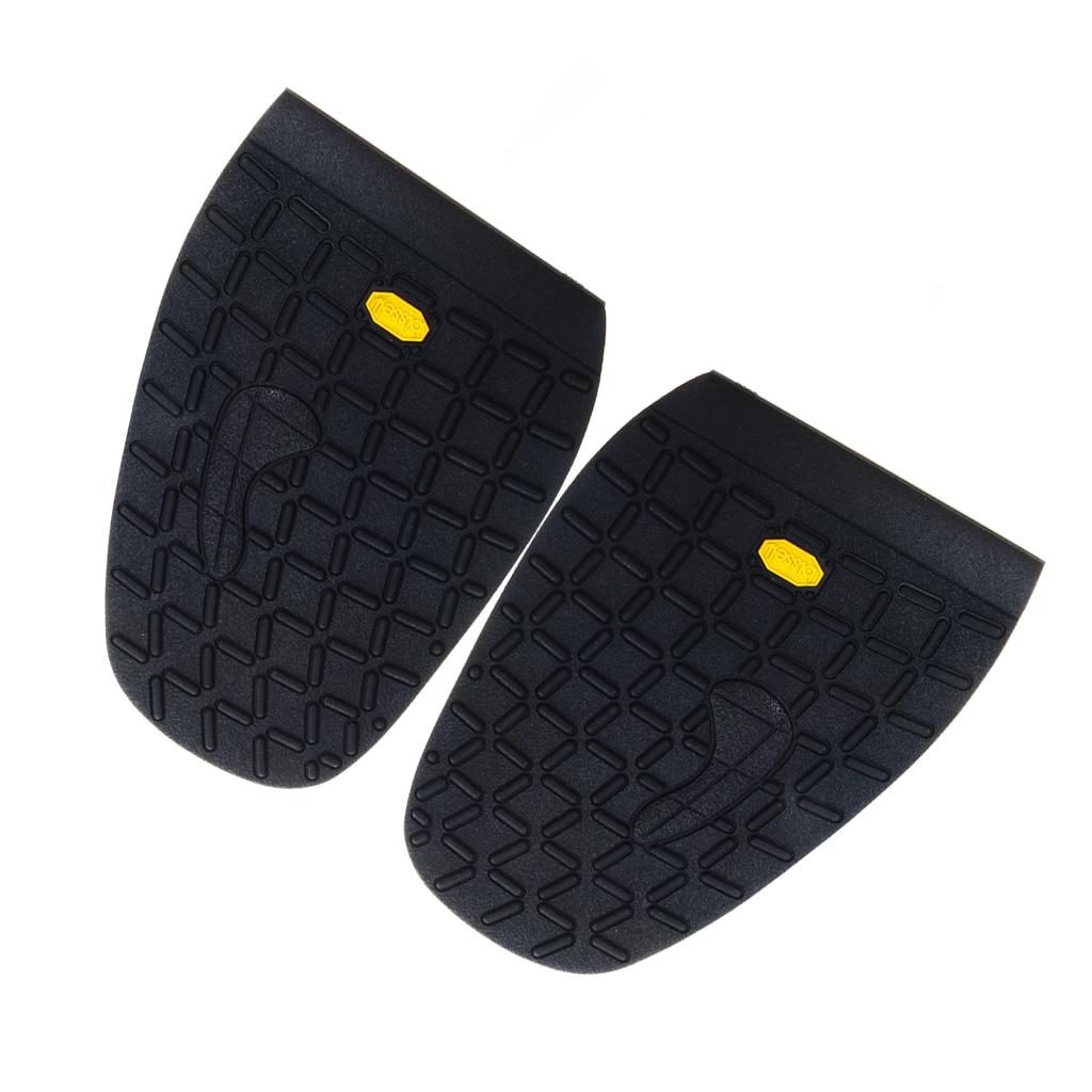 Footful Pair Rubber Half Soles Anti Slip Shoe DIY Repair Shoe Care Accessory Black Excellent Abrasion Performance