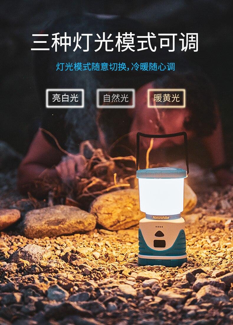 Naturehike lanterna de acampamento ao ar livre