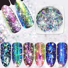 MiFanXi Nail Sequins AB Gradient Nail Art Pingment Glitter Flakes Dazzing Shining Nail Art Decoration Nail Accessories 1g