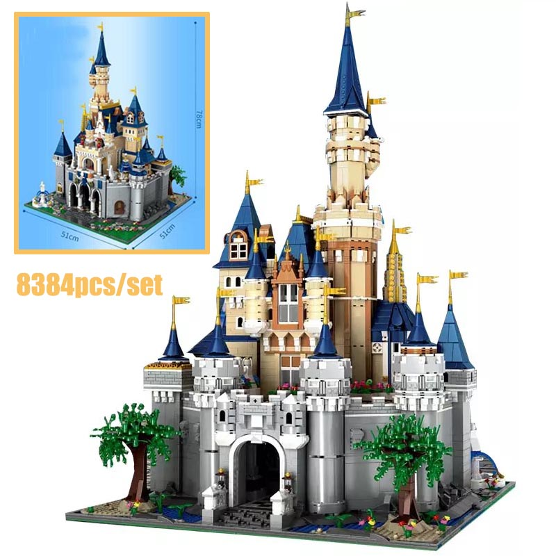 New 8388Pcs Paradise Princess Cinderella Dream Castle Creator UCS Set Building Blocks Bricks fit LeGINGlys Kids Christmas Toys image
