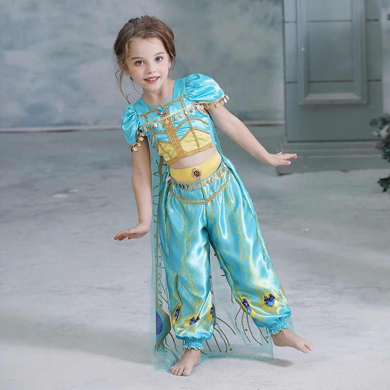 Giả Tưởng Hoa Nhài Đầm Công Chúa Bé Gái Trẻ Em Bé Gái Halloween Trang Phục Hóa Trang Trẻ Em Anna Elsa Cosplay Bé Gái Áo