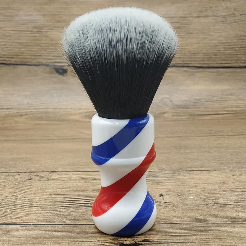 Dscosmetic 24mm Tuxedo Synthetic Hair Knots Barber Pole Handle Shaving Brush