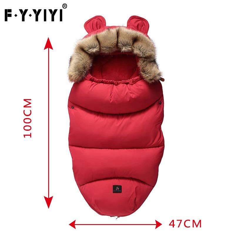 Baby Sleeping Bag Infant Stroller Sleeping Bag Spring Winter Warm Sleepsacks Robe 0-24 Months Infant Thick Warm Envelopes