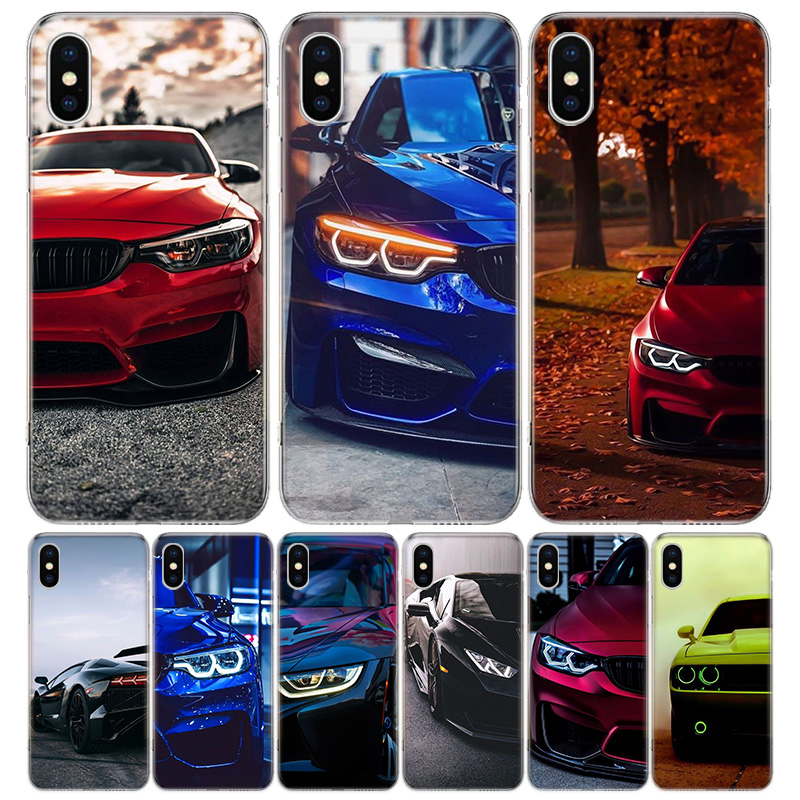 Blue Red Car for Bmw Cover Phone Case For iPhone 11 Pro 7 6 X 8 6S Plus XS MAX + XR 5S SE 10 Ten Art TPU Coque Capa Shell image