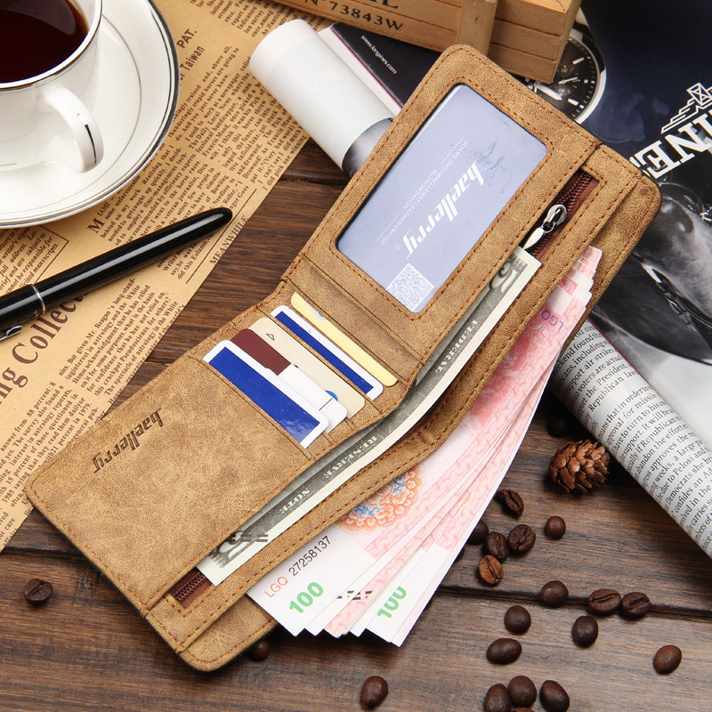 Hot Sale Fashion Men Wallets Quality Soft Linen Design Wallet Casual Short Style 3 Colors Credit Card Holder Purse Free Shipping 2
