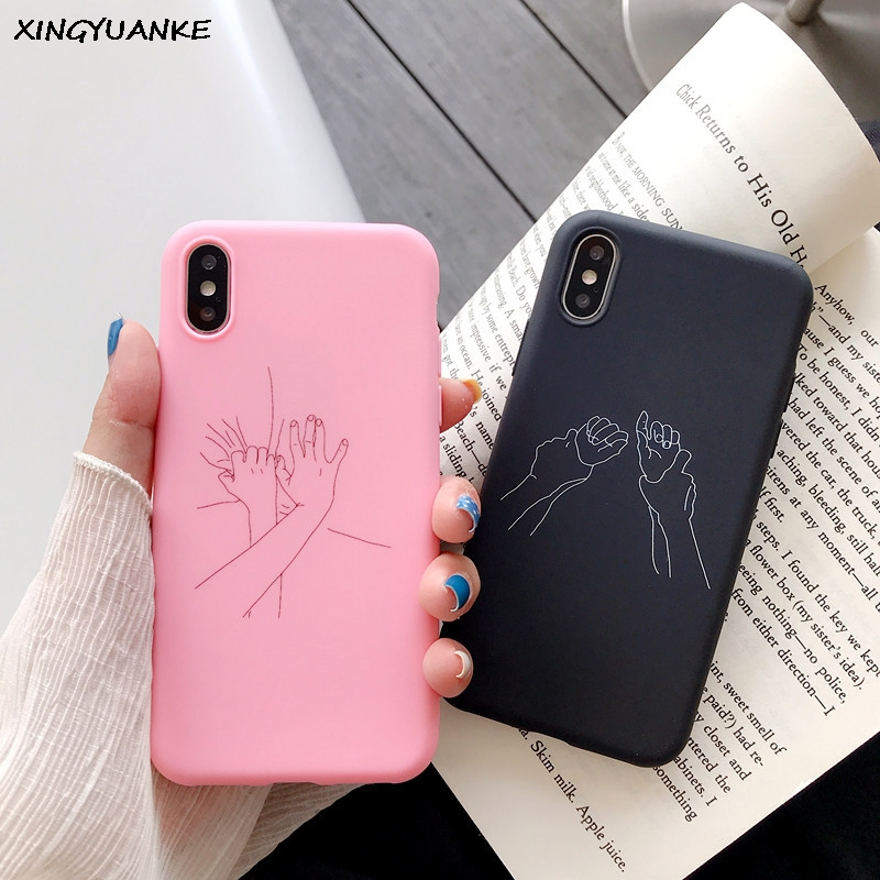 <font><b>Silicone</b></font> <font><b>Case</b></font> For <font><b>Samsung</b></font> Galaxy A50 A30S A20 A40 <font><b>A70</b></font> A10 A20E <font><b>Case</b></font> Couples Special Hands Cover For <font><b>Samsung</b></font> A51 A71 A81 A91 <font><b>Case</b></font> image