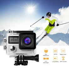 Sport Cameras 4k Ultra HD Wifi 2.0 Inch 170wide Angle Lens Waterproof Car DVR Sports Dv Outdoor Diving Bicycle Camcorder(China)