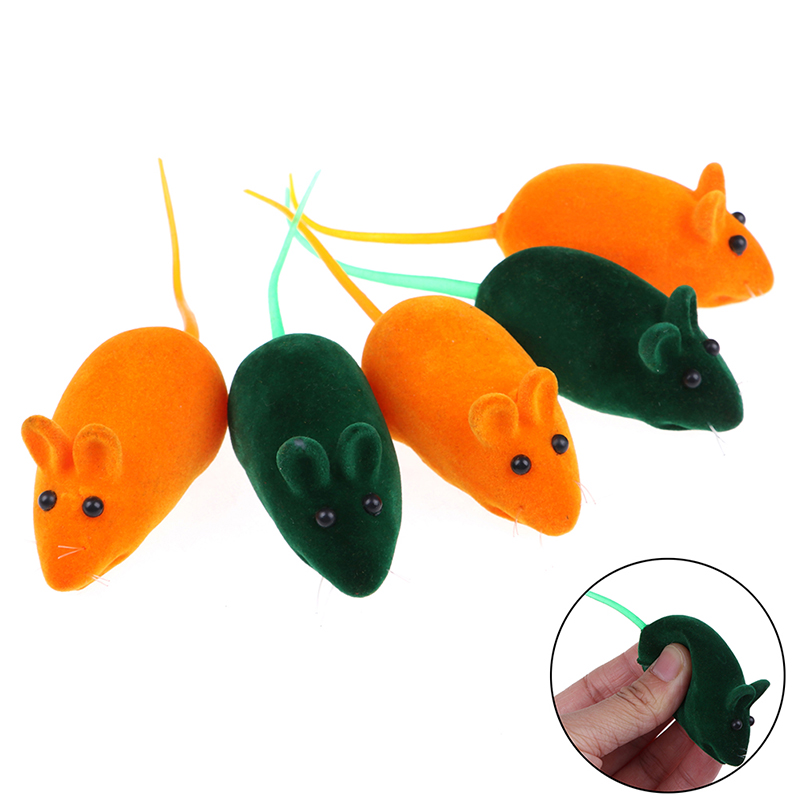 Squeaky Squeaker Sound Chew Toy False Mouse Rat For Pet Cat Kitten Dog Puppy Playing Sounding Dolls Gift