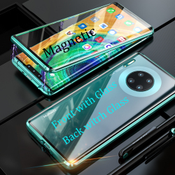 На Алиэкспресс купить чехол для смартфона for huawei mate 30 20 pro rs magnetic case p30 pro p30 lite double-sided tempered glass case nova 6 se 5t 5z 5i 5 pro metal case