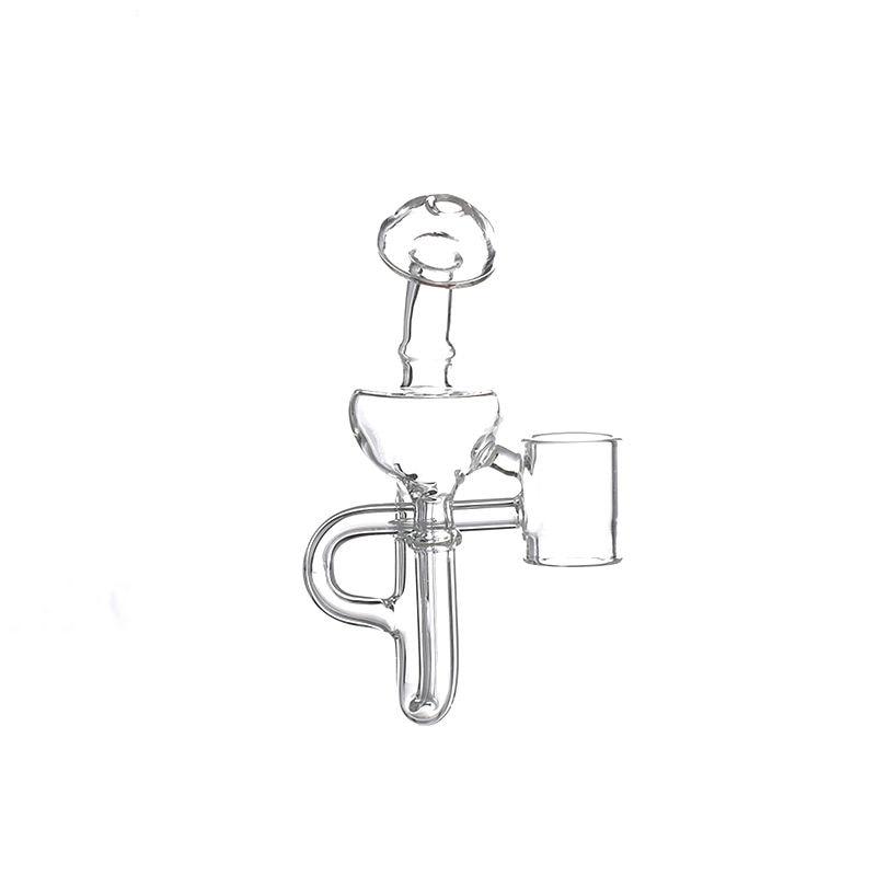 G9 19MM Detachable Glass Bubbler Mouthpiece Bong Attachment for 510 Nail/H Enail/Henail Plus/TC PORT/Clean Pen/GDIP Dab Rig Kit 3