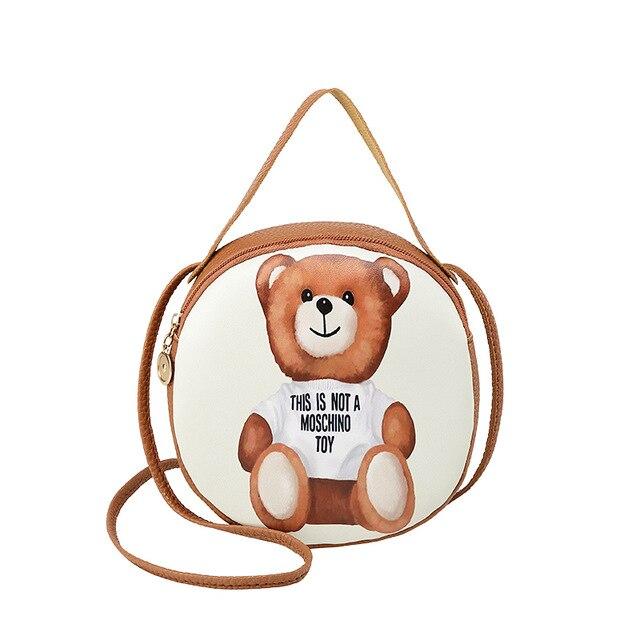 Small Mini Crossbody Handbag Print Bear Women's Messenger Bags Female Shoulder Purse For Women