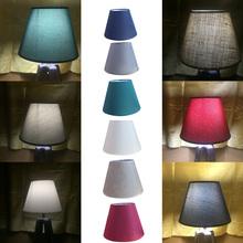 Wysokiej jakości 6 kolory tkaniny abażury Art Deco stałe abażur nowoczesne oświetlenie cień do kinkiet lampa stołowa dekoracji wnętrz cheap Solid 13cm 150g ECH86