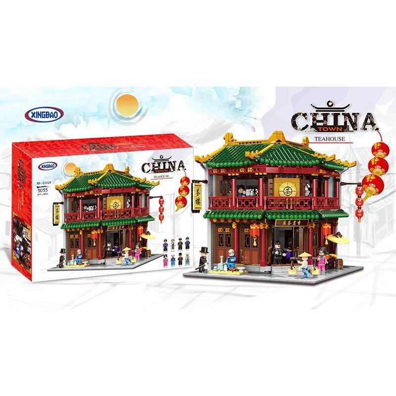 Xingbao 01021 3033 Uds serie de construcción china Casa de Té Toon montar bloques de construcción juguete educativo construcción ladrillos