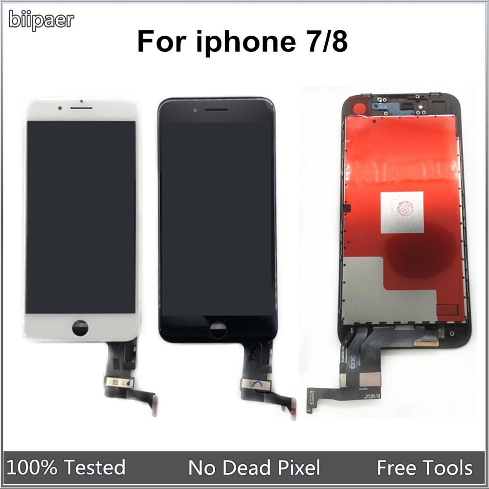 Высококачественный ЖК- дисплей Biipaer AAAA для iphone 7 8, сенсорный ЖК-экран, дигитайзер, сборка для Iphone 8, 7, ЖК-панель для iphone7
