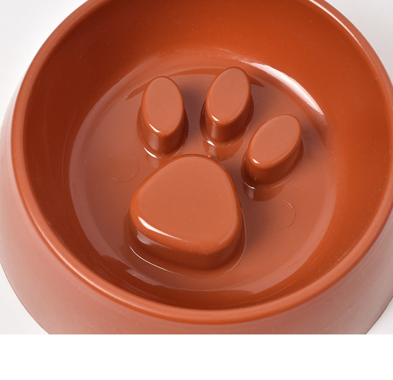 Cute Paw Dog Bowl Plastic Anti Choke Slow Feeder Pet Food Bowls For Cat Water Drinking Products For Dogs Silicone Container 17