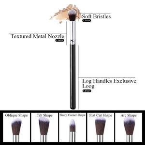 Image 5 - Conjunto de brochas de maquillaje 10 uds, brochas profesionales para maquillaje en polvo, brochas para maquillaje, cosméticos, pelo sintético suave