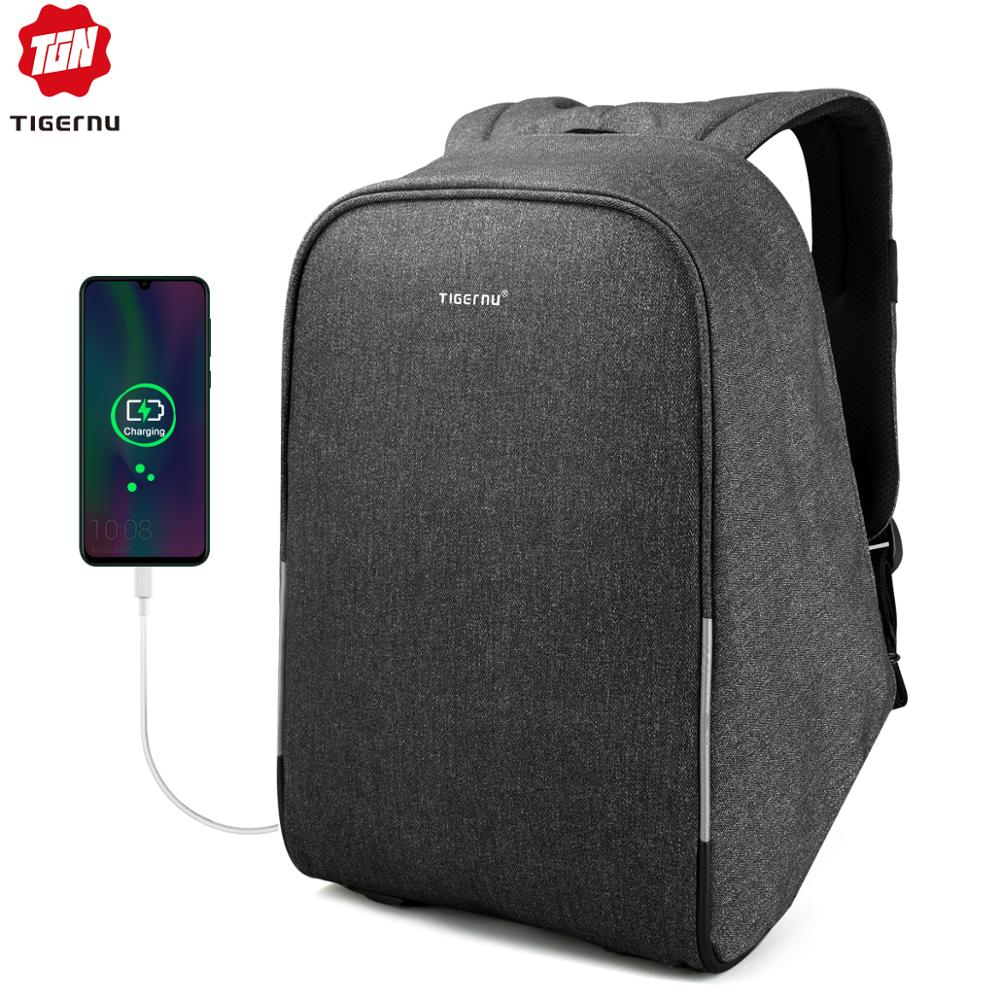 Tigernu Multifunction Waterproof Anti-thief USB 15.6inch Laptop Backpack Women School Backpack Men Bagpack For Male Mochila