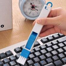 4шт универсальный 2-в-1 клавиатура очиститель очистки инструментов Двери окна кисть канавки щетка для очистки с совком SP99