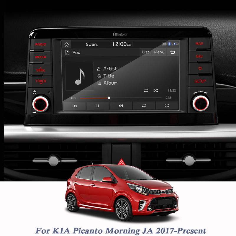 For KIA Picanto Morning JA 2017-Present Car Styling Display Film GPS Navigation Screen Glass Protective Film Of LCD Screen
