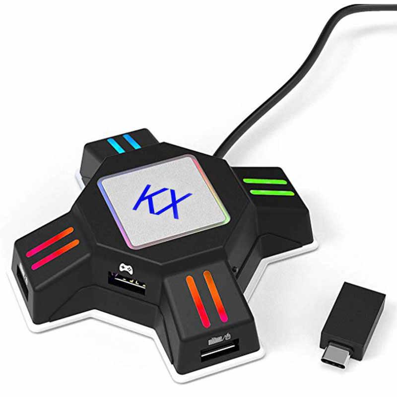 ゲームパッドコントローラ用 PS4 キーボードマウスアダプタ Xbox One Nintend スイッチエミュレータサポート FPS ゲームハンドルアクセサリー