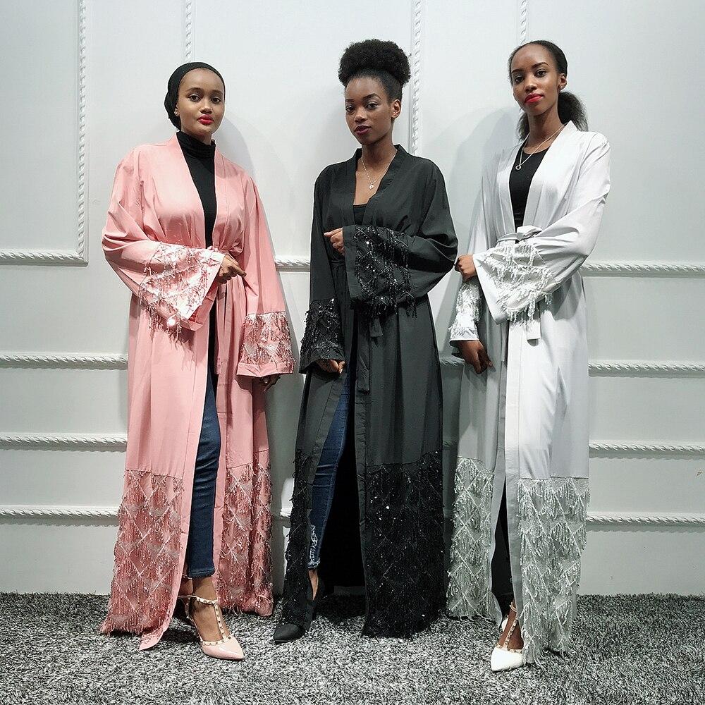 Kaftan Abaya Dubai Kimono Hijab Muslim Dress Jilbab Qatar Turkish African Dresses For Women Islamic Clothing Caftan Marocain