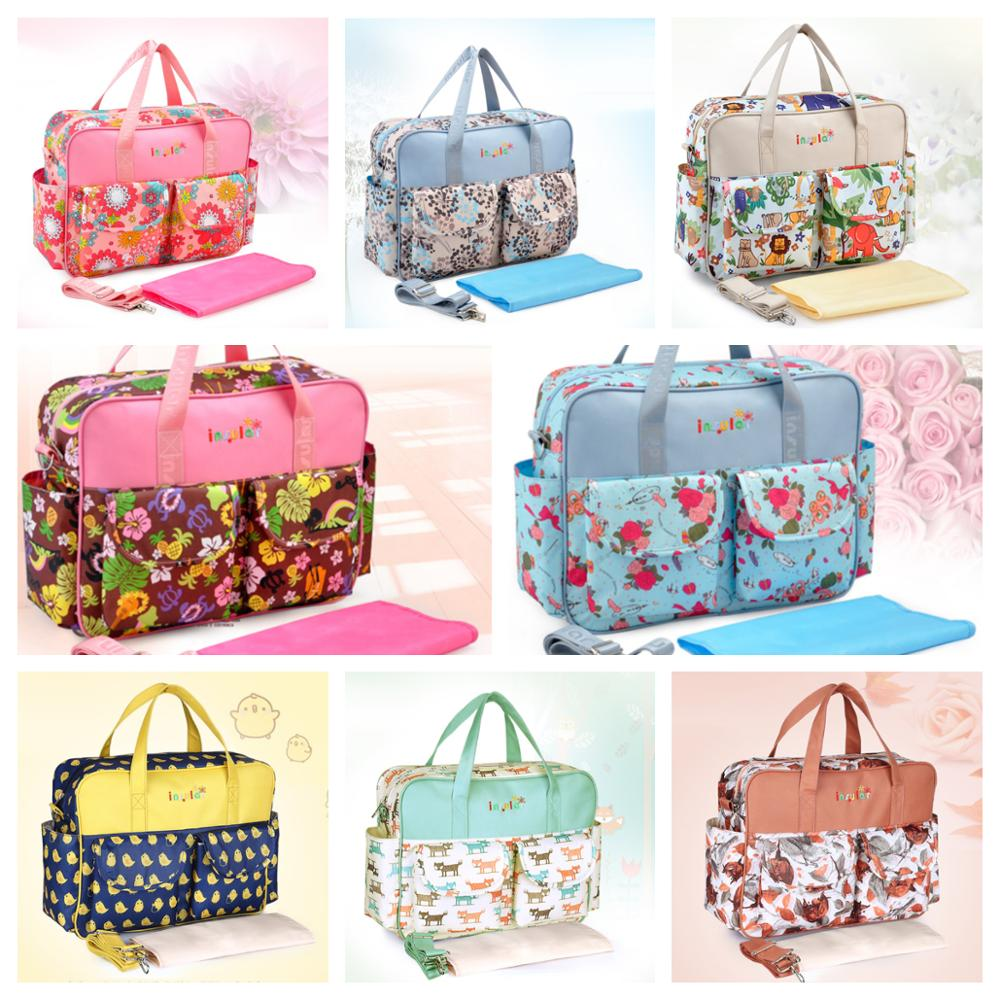 8 Colors Large Capacity Mommy Bag Waterproof Nappy Bag Floral Baby Changing Diaper Bag Backpack For Maternity  Travel Packages