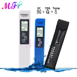 0-9999us/CM 0-9999ppm LCD Digital TDS EC Temp Meter Tester Thermometer Water Purity PPM Aquarium Filter for Pool Wine