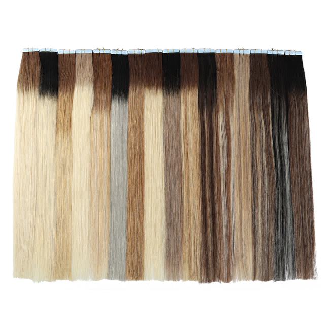 MRSHAIR Balayage Ombre Tape In Human Hair Extensions Double Sided Adhesive Hair Non Remy 14 18 20 inch 20pc/set