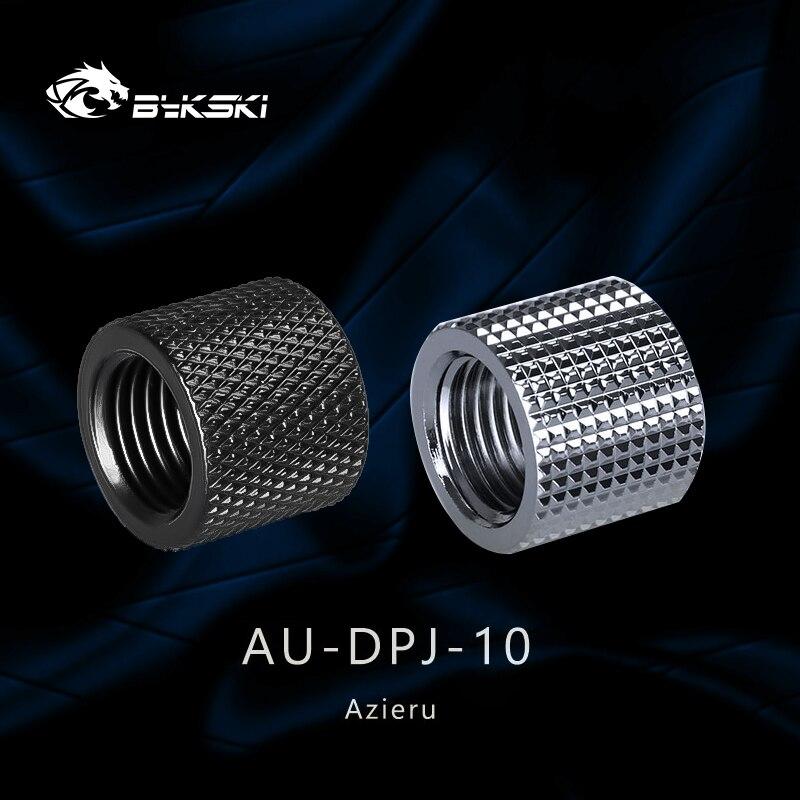 Azieru  iAU-DPJ-10 Diamond Pattern Double G1/4 Thread Female Butt Joint Connector Extender,Tube Fittings Black/Silver 1