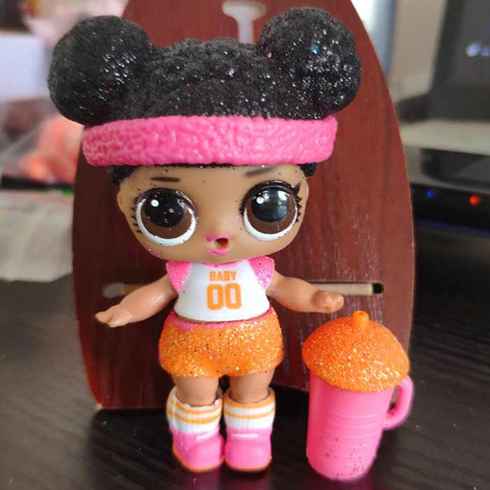 LOL doll Surprise, Original, 1 Generación, trasplante de pelo a juego oficial, Navidad, Serie de purpurina, juguetes raros