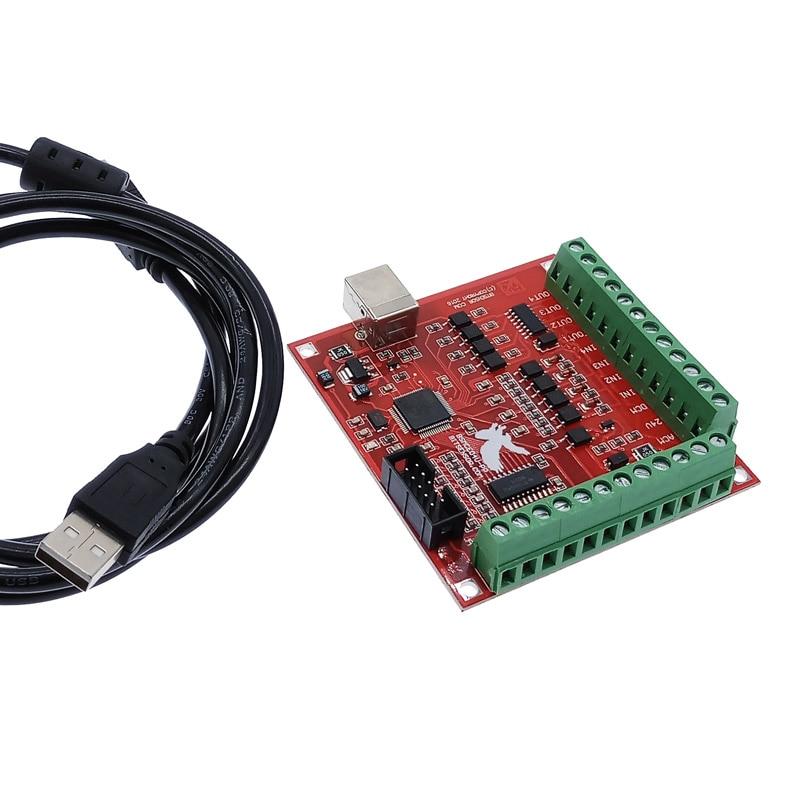 Драйвер интерфейса коммутационной платы CNC USB MACH3 100 кГц 4-осевой интерфейс драйвера контроллера движения плата драйвера