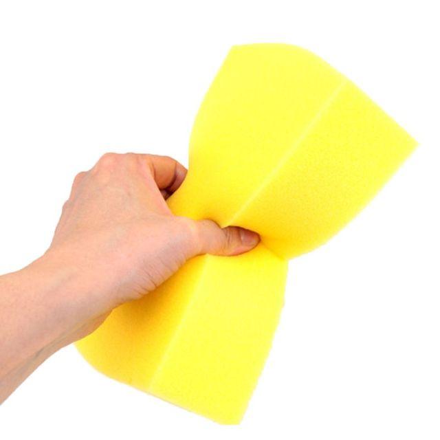 5 Pcs Gelb Auto Waschen Wachs Quadrat Schwamm Extra Weiche Große Größe Waschen Cellulose Super Saugfähigen Multi verwenden Reinigung werkzeug Teile