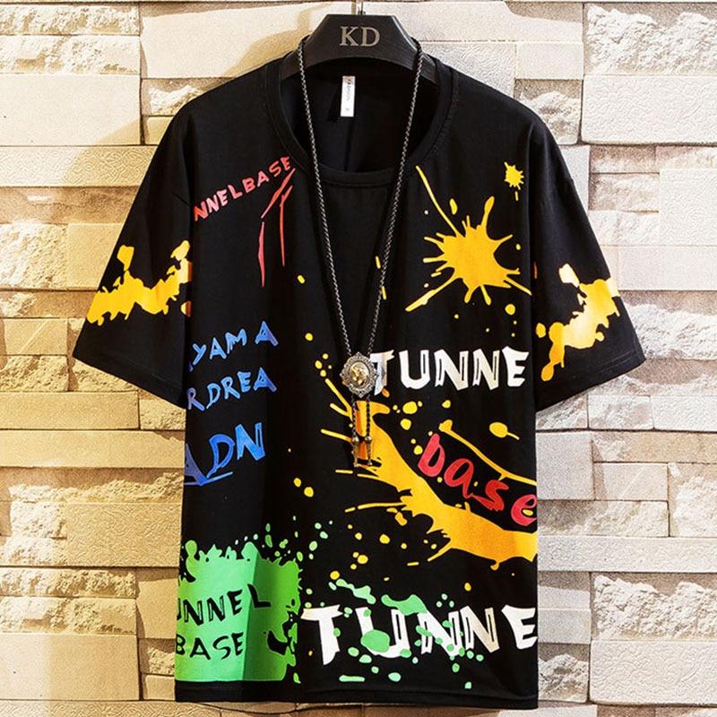 Homens T-shirt 2020 Novo 4 cores hip hop roupas de Algodão O-pescoço letras Impressas dos homens de Alta Qualidade Top Tees Masculino casaco Streetwear