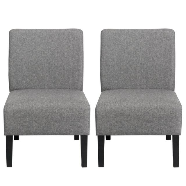 Set of 2 Armless Accent Chair  6