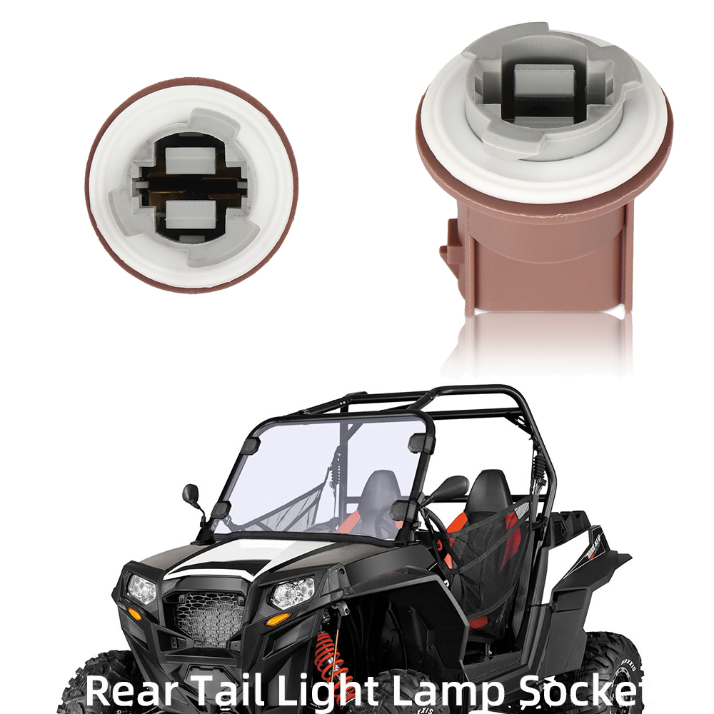 KEMiMOTO Rear Tail Light Lamp Socket Utv Charge For POLARIS RZR 570 800 900 XP ACE 570 ACE 900 RZR 4 800 RZR 4 XP 900 2008-2017