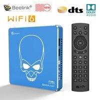 Beelink GT-rey Pro WIFI 6 Dispositivo de Tv inteligente Amlogic S922X-H Android 9,0 4G 64G 4K Dolby Audio DTS Set Top caja del UGOOS AM6B PLUS