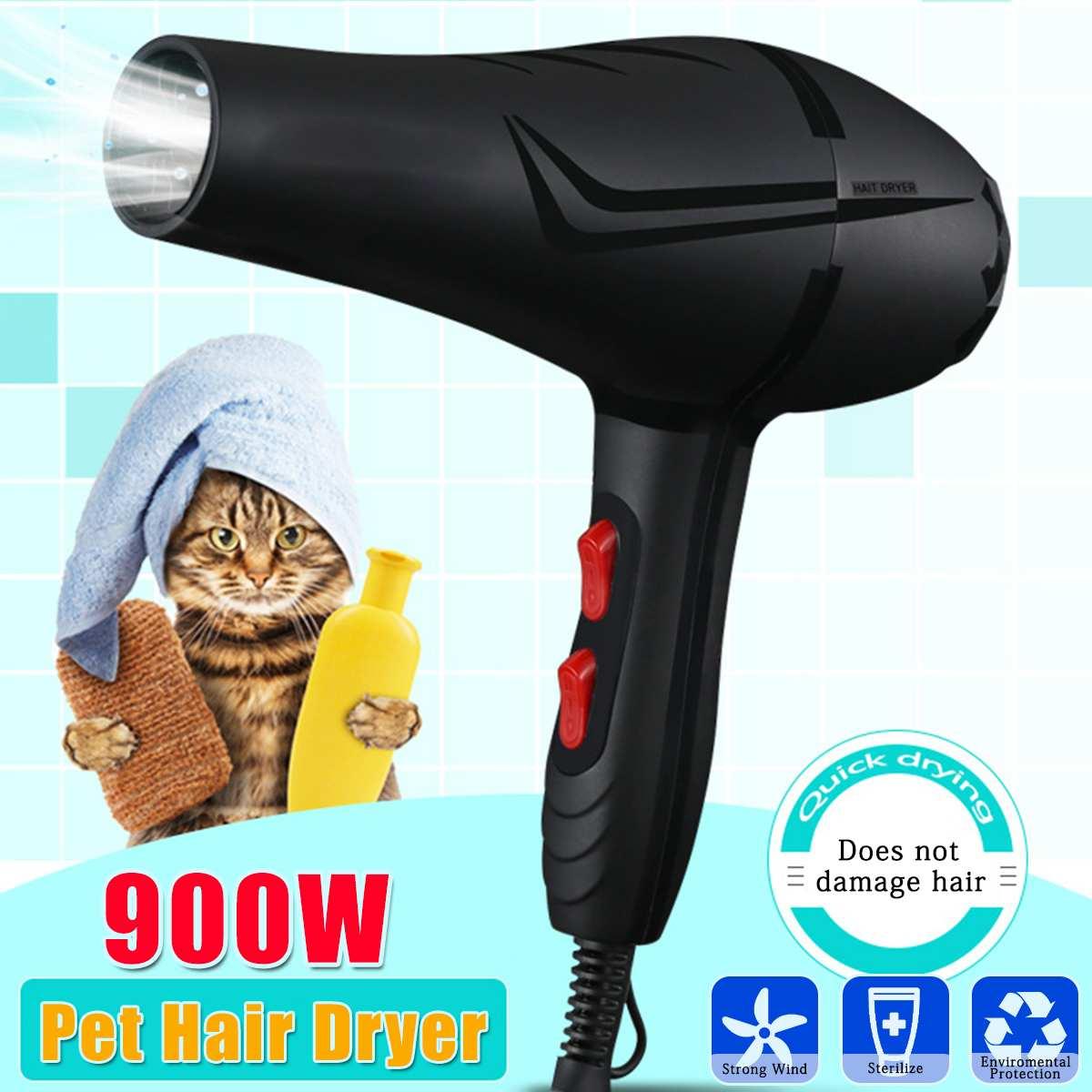 900W Pet Dryer 6 Gear Strong Power Pet Cat Dogs Hair Dryer Fast Blower Hair Dryer Fan Hairdressing Barber Tools