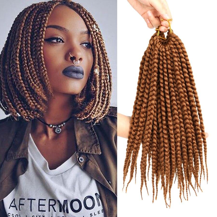 MTMEI HAIR Short Box Braids Crochet Hair 12