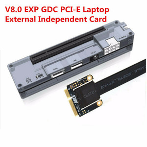 High Quality V8.0 EXP GDC Laptop External Independent Video Card Dock W/Expresscard Data Line And 6 Pin/8 Pin Power Supply Cable